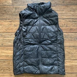 Pewter Black Dark Grey Puffer Vest